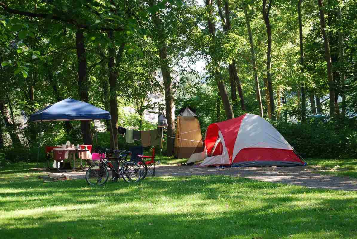 Camping en été